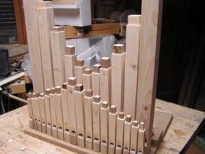 Premier montage des flûtes
