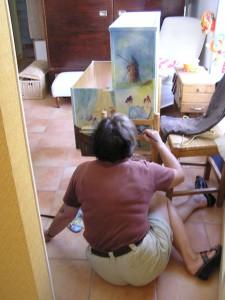 L'artiste en peinture. Il faut laisser faire ceux qui savent